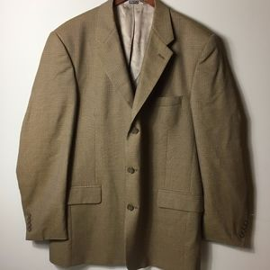 Claiborne Men's 100% Worsted Wool 44L Sportcoat